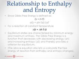 Gibbs Free Energy Entropy Enthalpy Chart The Third Law Absolute Entropy And Free Energy Lecture Ppt