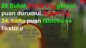 28 Şubat Süper Lig güncel puan durumu! Süper Lig 24. hafta puan tablosu ve  fikstürü - YouTube