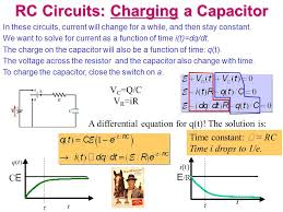 rc circuits charging a capacitor in these circuits cur will change for a while