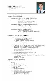 Writing A Curriculum Vitae For A Student For College For Curriculum