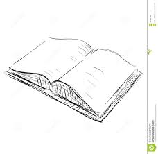 open book sketch icon ilration royalty free stock photo