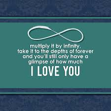 To My Boyfriend I Love You INFINITY EVERYTHING Q Pinterest New Infinity Love Quotes