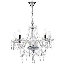 där katie 5 light chandelier in polished chrome