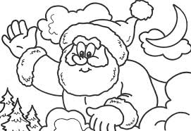 High Five Santa Coloring Pages For Kids Printable Christmas
