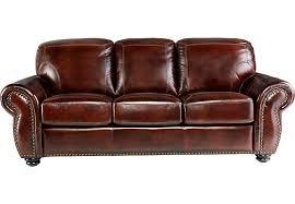 Brockett Brown Leather Sofa