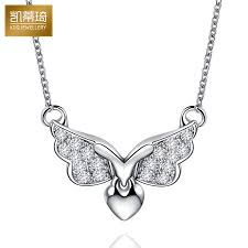 get ations hello kitty kay jewelry k gold diamond necklace angel wings pendant necklace fine fashion female models