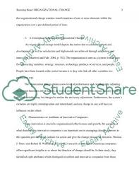 organizational change essay example topics and well written text