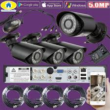 <b>4CH 5.0MP</b> DVR Recorder Outdoor Camera <b>Security</b> System Kit ...