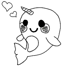 Small Picture Cute Baby Narwhal Coloring Page NetArt