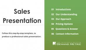 Sales Presentation Template Demand Metric