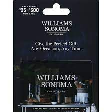 williams sonoma gift card 25 500