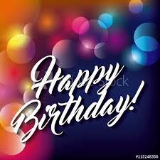 Blurred Background Happy Birthday Design Vector Graphic Buy