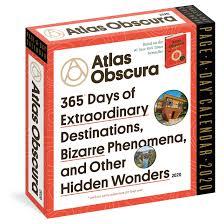 Atlas Obscura Page A Day Calendar 2020 Atlas Obscura