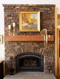 fireplace stacked stone tile design ideas