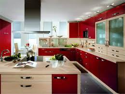Rot Modulare Küche Gehäuse Design mit Granit Arbeitsplatten und