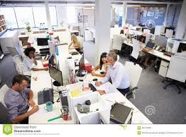 wide angle view busy design office. busy office wide angle view design e