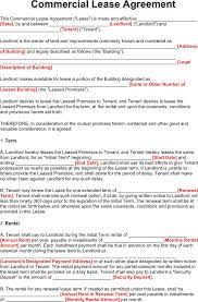 Commercial Lease Agreement - Template Free Download   Speedy Template