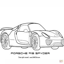 Porsche 918 spyder drawing at getdrawings free for personal