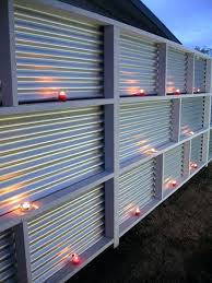 view in gallery corrugated metal fence with candles wood gate frame modern privacy fences wood fencing metal