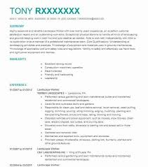 Landscaping Resume Landscape Worker Resume Sample Worker Resumes Livecareer
