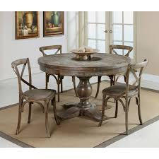 distressed wood dining table round shapes