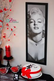 Marilyn Monroe 15th Birthday Party E2 80 93 A To Zebra Celebrations Art.  fireplace design Ideas ...
