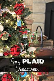 Plaid Christmas Tree Golden Boys And Me Easy Plaid Ornaments Our Family Room