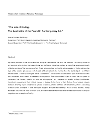 A thesis statement does not necessarily involve a statement of argument or original insight, but it should let the reader know how the artist's formal choices affect the viewer. Fine Arts Thesis Abstract