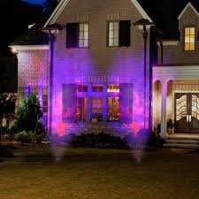 halloween outdoor lighting. Outdoor Lighting Effects. Diy:gemmy Lightshow Projection Spot Light Fire And Ice Purple Halloween W