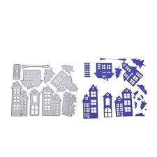 christmas house template christmas house cutting dies stencil metal template mould