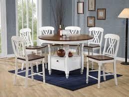 white  walnut finish pc counter height dining set woptions