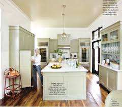this kitchen via martha stewart is more grey than green but i am obsessed with the whole thing especially the brass bin pulls