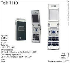 Telit t110 - Full phone specifications