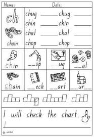 Free interactive exercises to practice online or download as pdf to print. Activity Sheet Digraph Ch English Skills Online Interactive Activity Lessons Phonics Worksheets Ch Words Kindergarten Worksheets Sight Words