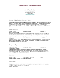 Resume Template Examples Skills Section Sample Based Intended