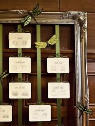 Cute Way To Arrange Your Seating Chart Using A Vintage Frame
