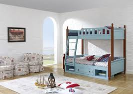 china children bedroom furniture. Sky Blue Painting Bunk Bed For Children Bedroom In Solid Wood Frame And MDF Plate With Storage Drawers Apartment Furn China Furniture