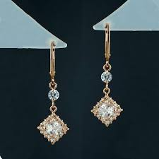 high quality cubic zirconia chandelier earrings