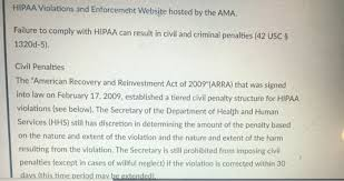 Solved Hipaa Violations And Enforcement Website Hosted By