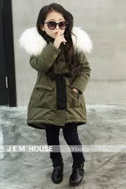 korean brand girls coats and jackets kids faux fur collar coat for baby girl children winter