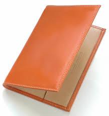 tan handmade leather golf scorecards
