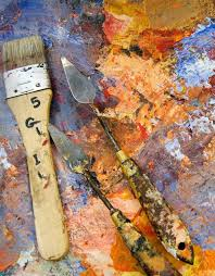 palette knife painting work