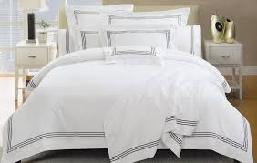 luxury white hotel duvet cover set quality king queen size bed for