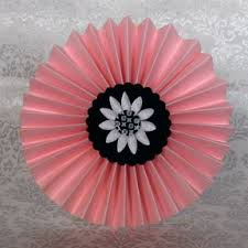 Paper Origami Flower Making Make A Fan Fold Flower Paper Crafts