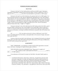 Confidentiality Agreement Free Template Inspiration 48 Non Disclosure Agreement Templates DOC PDF Free Premium
