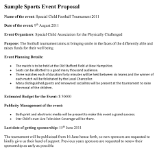 Sports Management Cover Letters Generally A Sports Event Proposal Is Prepared By The Event
