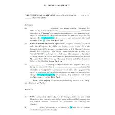 Business Investment Agreement Template – Mklaw