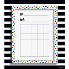 Incentive Charts For Students Spot Stripe Student Incentive Chart Bold And Bright Ctp0536