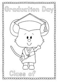 Kindergarten Graduation Coloring Pages Graduation Coloring Page For Preschool And Kindergarten Graduation
