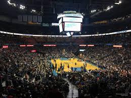 Oklahoma Thunder Arena Seating Chart Chesapeake Energy Arena Section 111 Oklahoma City Thunder